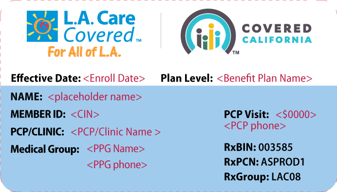 Your Member ID Card | L A  Care Health Plan