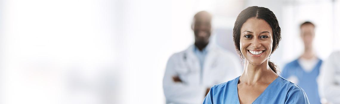 smiling female health provider