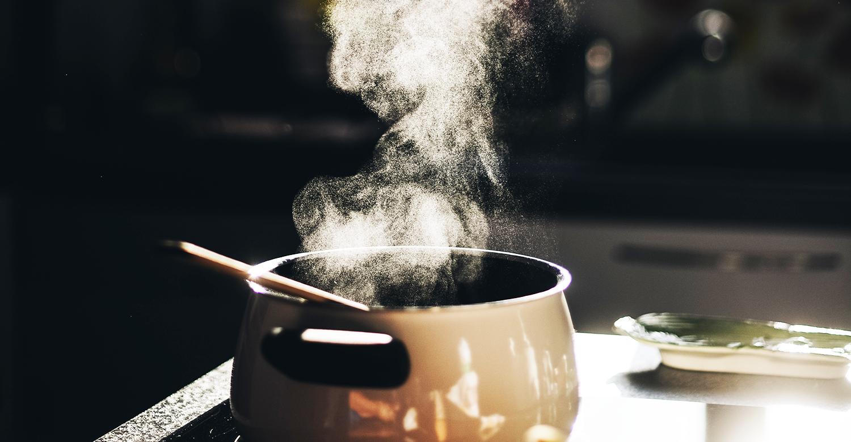 hot pot on stove