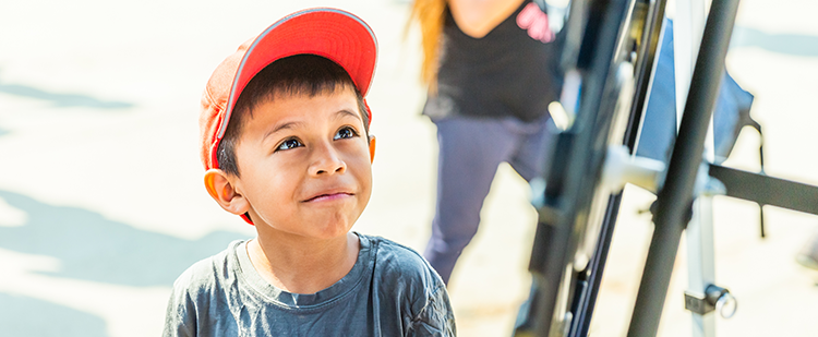 a boy at the Boyle Heights Family Resource Center