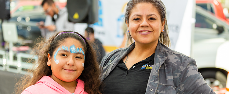 mother and daughter at East L.A. Family Resource Center