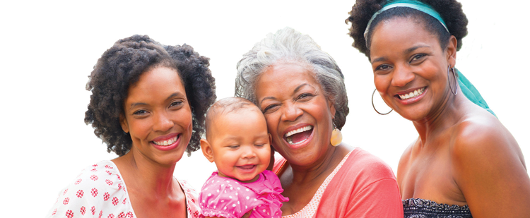 photo of multi-generations of women in a family