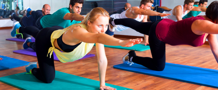 A group exercise class