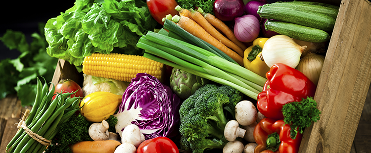 a bounty of healthy vegetables