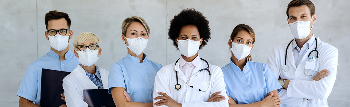 Health Care Professionals wearing face masks