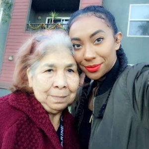 Denise and her grandmother Maria