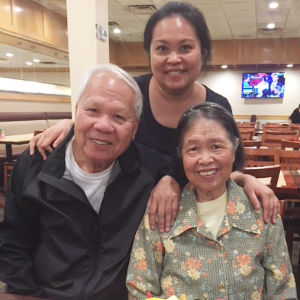 Susan and her mom and dad, Mei and Song