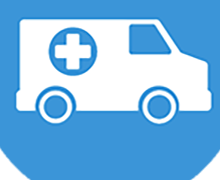 medical van as transportation icon
